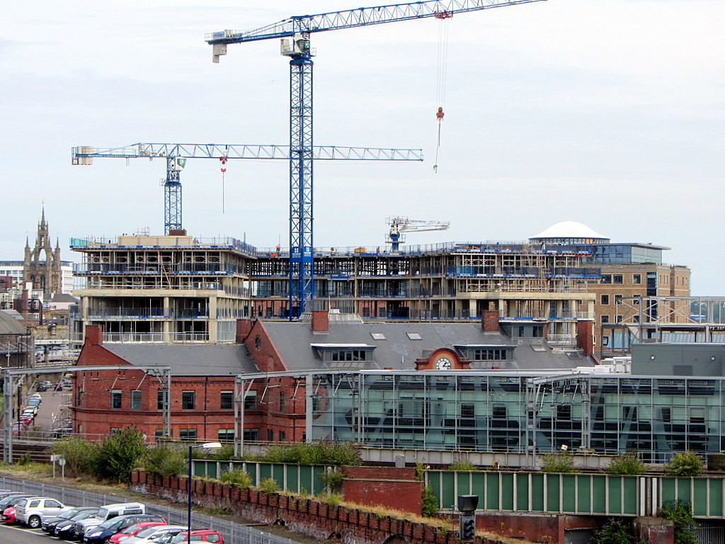 Newcastle's Stephenson Quarter. Photograph by Andrew Curtis and licensed for reuse under Creative Commons.