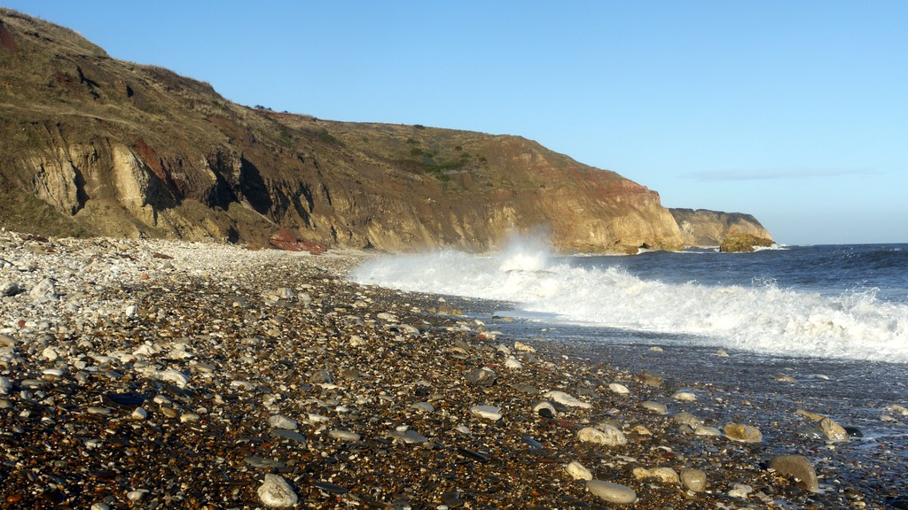 Beach east of Easington Colliery, photographed by Andrew Curtis under Creative Commons licence.