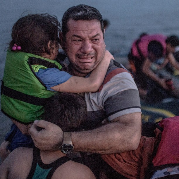 Syrian refugees arriving on the island of Kos in August. Photograph by Oğuzhan Ali under Creative Commons licence